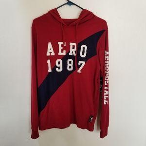 NWT Aeropostale lightweight red 1987 hoodie